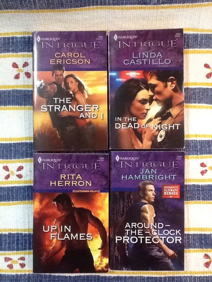 4 NEW Harlequin INTRIGUE Suspense Books CIA Agent Police Heroes Themed Romance