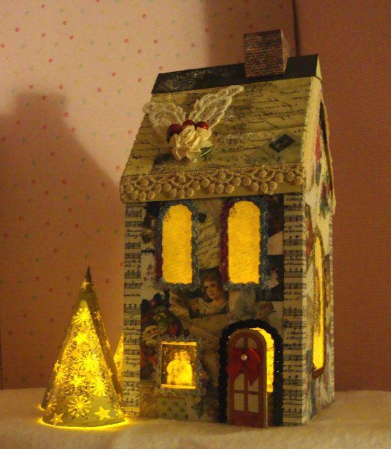 Christmas, Dollhouse, Doll House, Special, Vintage
