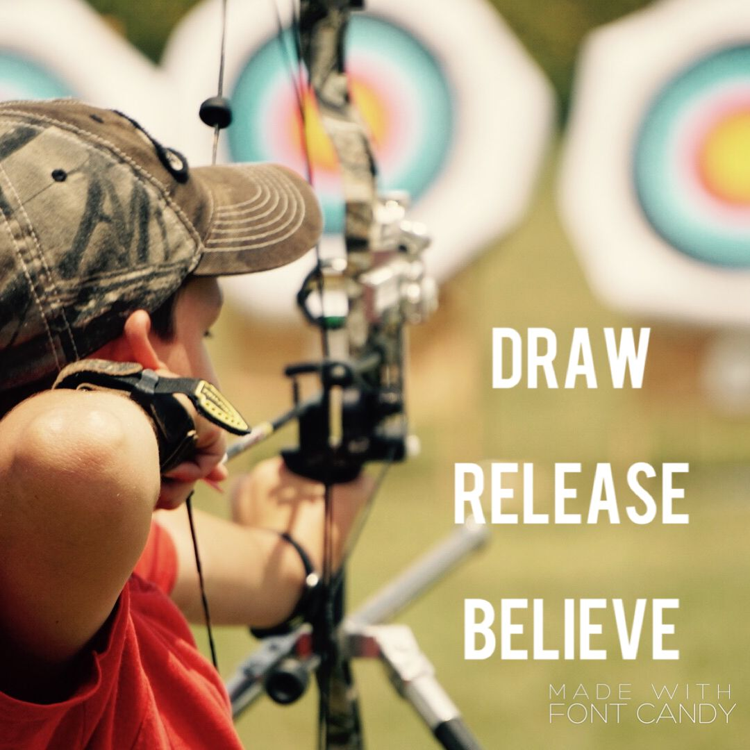 Archery draw release believe archery bow hunting drawings