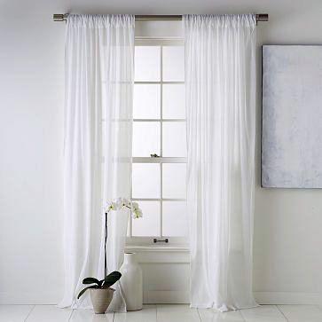 White Ibiza Por Taluv En Etsy White Curtains Bedroom White