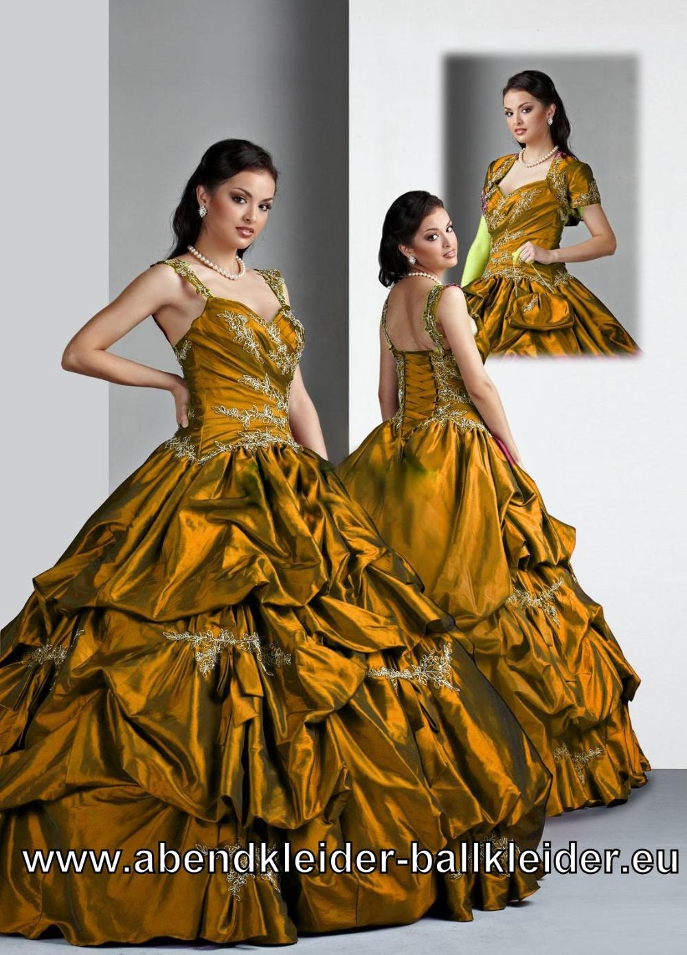 Träger Kleid Bronze Braunes Abendkleid Ballkleid Brautkleid Online