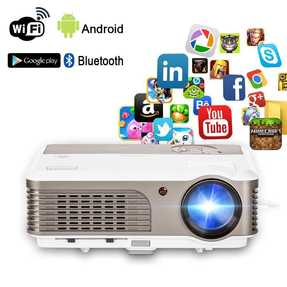 Wireless Projector Wifi Bluetooth 2600 Lumens (2017 Updated ...