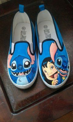 Custom Anime Vans lilo and stitch shoes anime Vans painted shoes