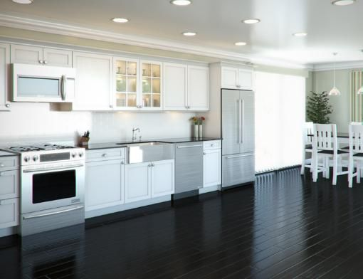 One Wall Kitchen With Sink In Island