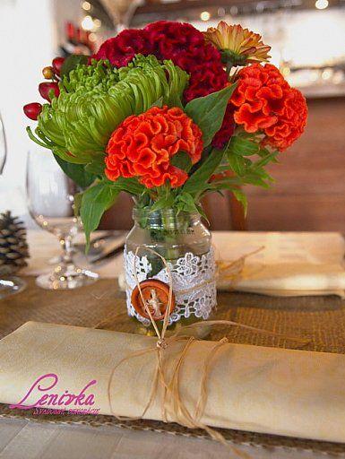 Jesenná rustikálna svadobná výzdoba/ Autumn rustic wedding decoration