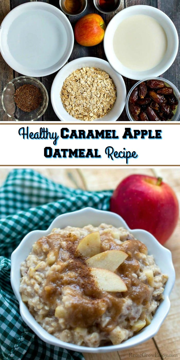 Photo of Healthy Caramel Apple Oatmeal Recipe – Reuse