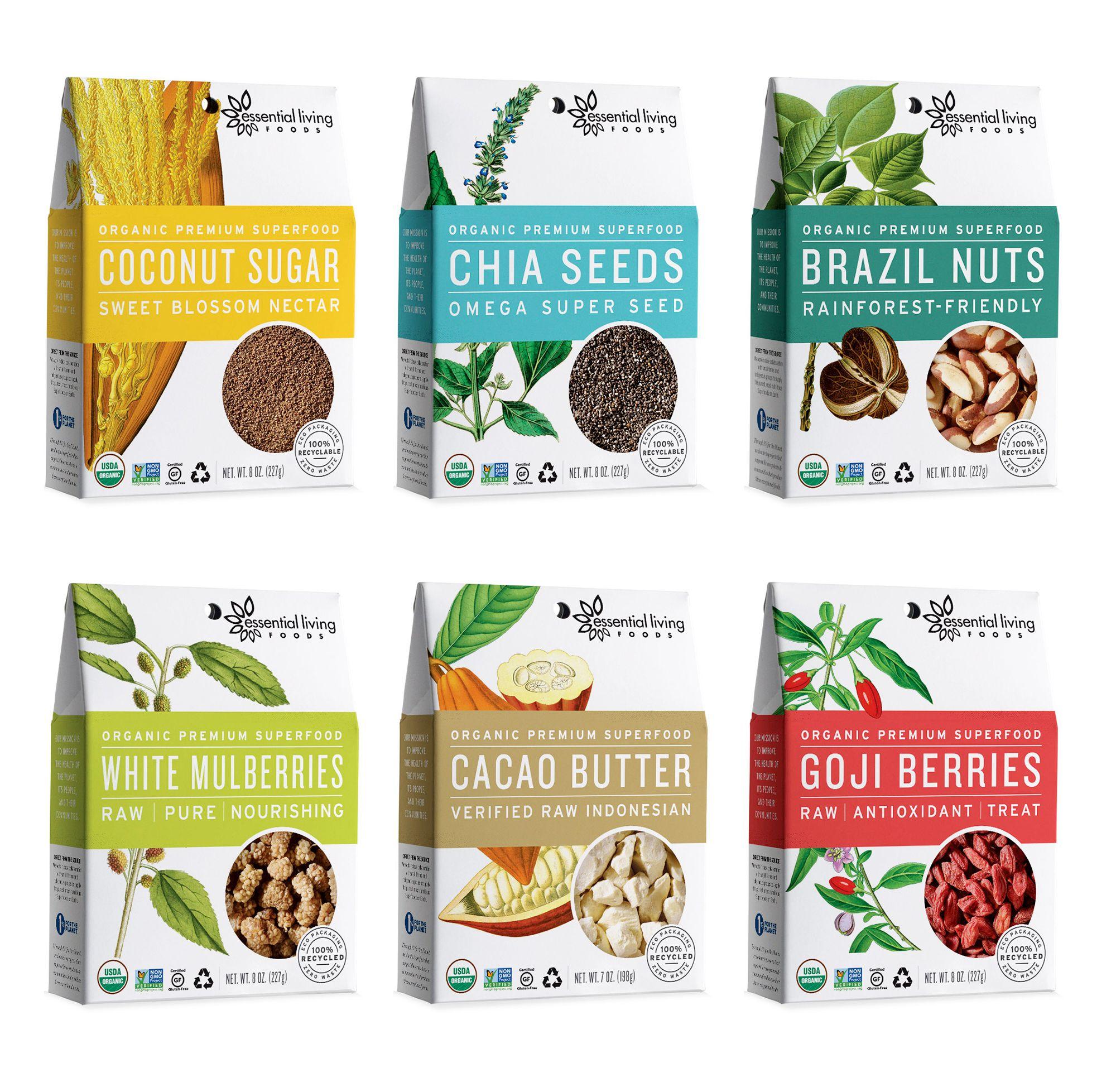 Merveilleux Essential Living Foods U2014 The Dieline   Package Design Resource