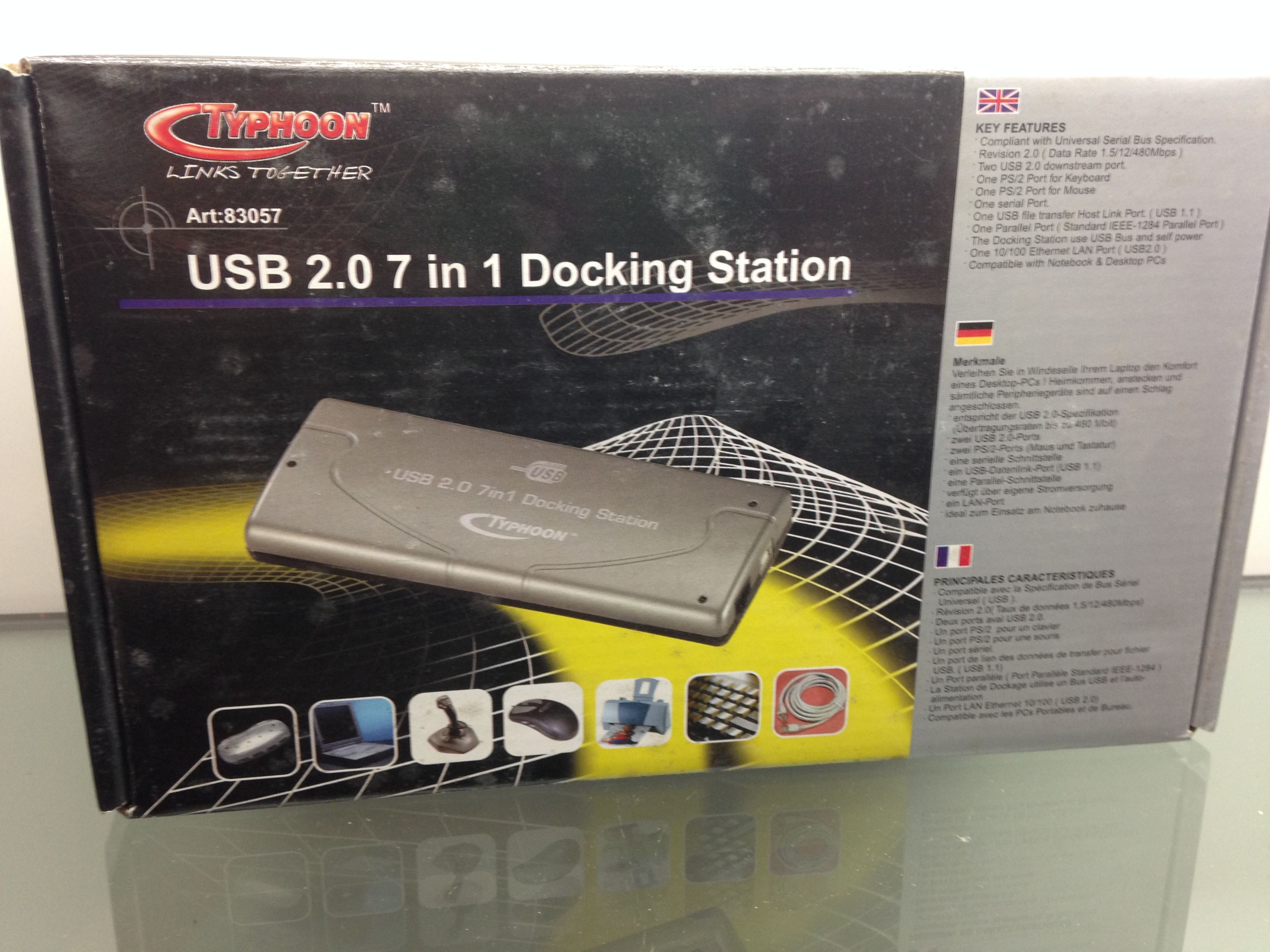 typhoon usb 2 0 7 in 1 docking station this docking station from typhoon allows for up to 7 pc accessories to be connected at on usb pc accessory flash drive pinterest