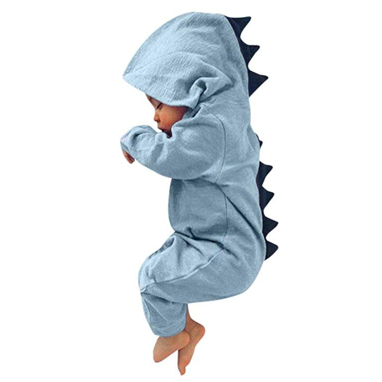 UK Newborn Kid Baby Boy Girl Clothes Hooded Jumpsuit Bodysuit Romper Outfits Set
