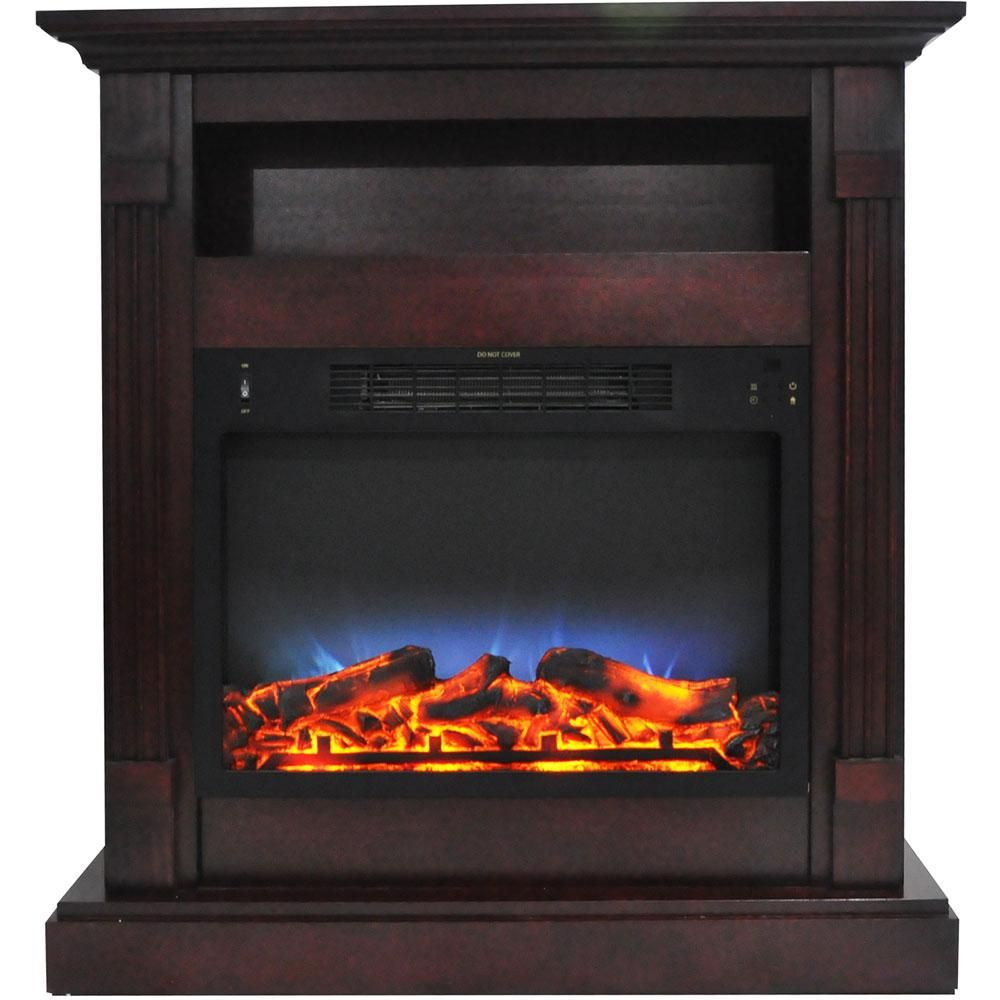 Cambridge Sienna 34 In Electric Fireplace With Multi Color Led
