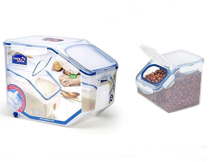 Lock Lock Bpa Free Rice Cereal Grain Storage Container Series 10kg 2 5kg Grain Storage Free Rice Storage Containers