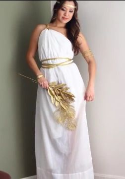 DIY Greek goddess costume tutorial https://m.youtube.com ...