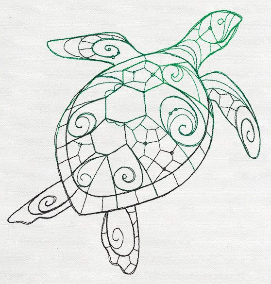 Sea Turtle Embroidered Flour Sack Hand/Dish Towel