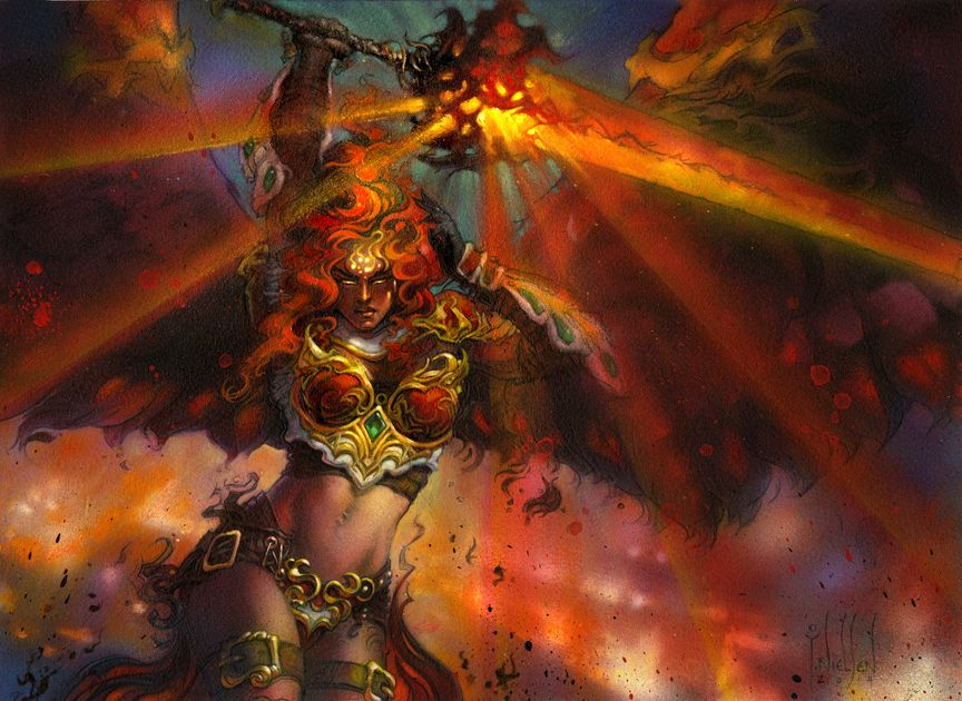 Akroma Angel Of Fury Art By Terese Nielsen Illustration Belles