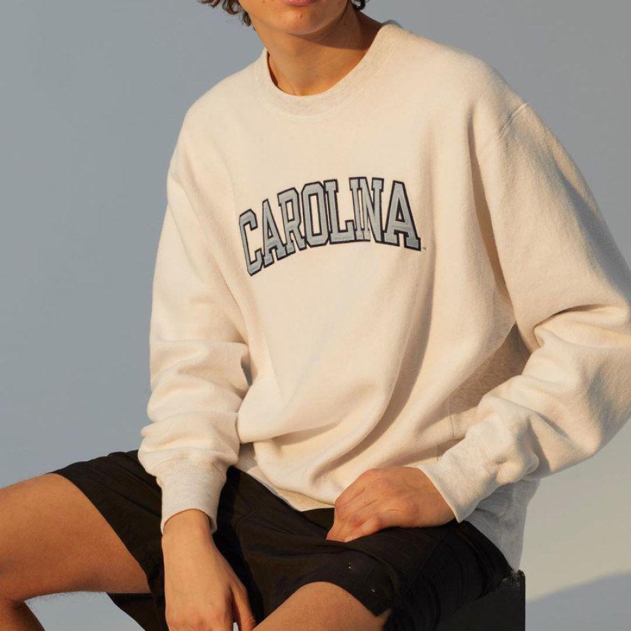 Men's Sports Basic Print Long Sleeve Sweatshirt
