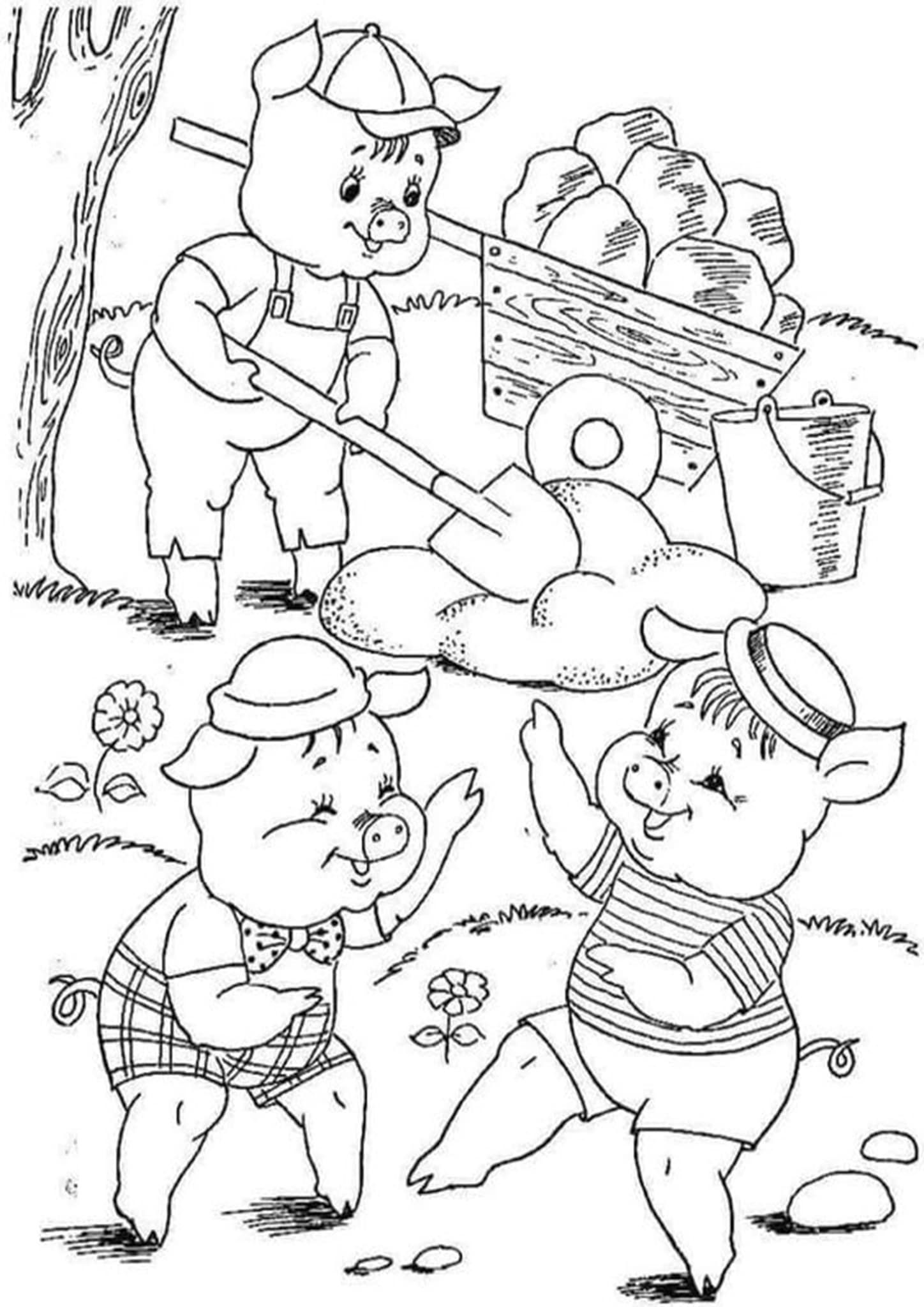 Free & Easy To Print Pig Coloring Pages in 2020 Coloring
