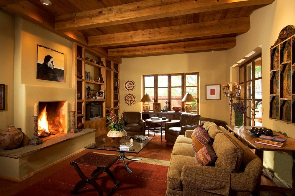 Luxury Home And Interior Room Designs  Homes & Rooms  Pinterest Simple Southwestern Living Room Inspiration Design