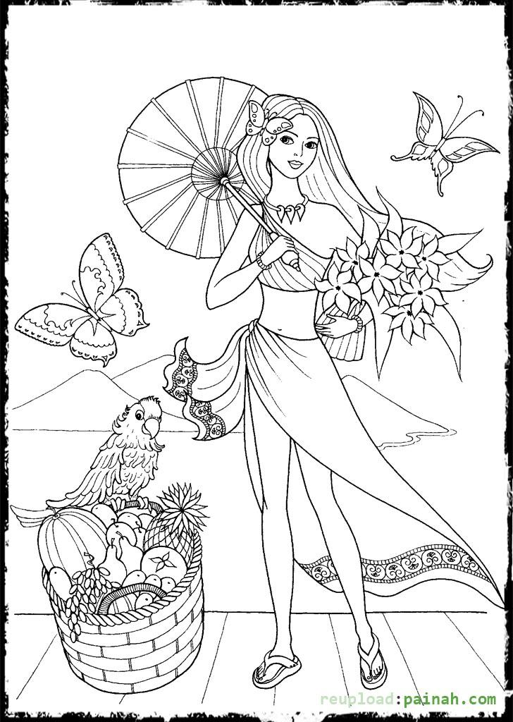 fashion coloring pages for girls with umbrella - Coloring Pages For Girls Online