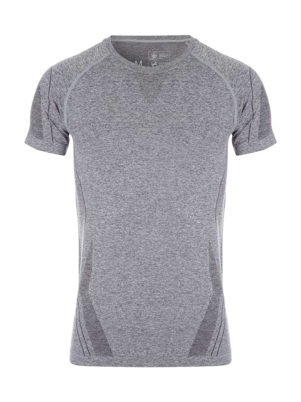 Add this short sleeve, round neck, seamless texture t-shirt to your collection for an updated look on a charcoal t-shirt.