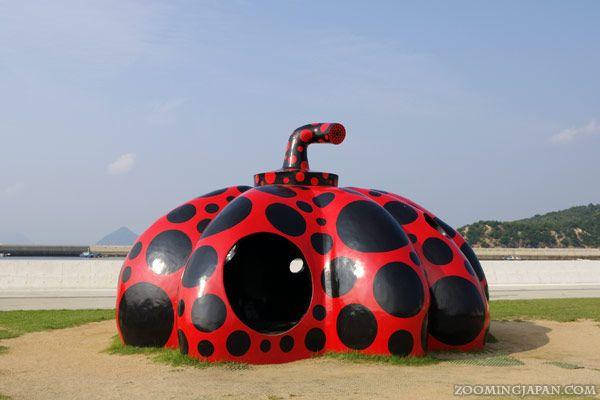 Naoshima - a small island with lots of weird art: http://zoomingjapan.com/travel/naoshima-art-island/