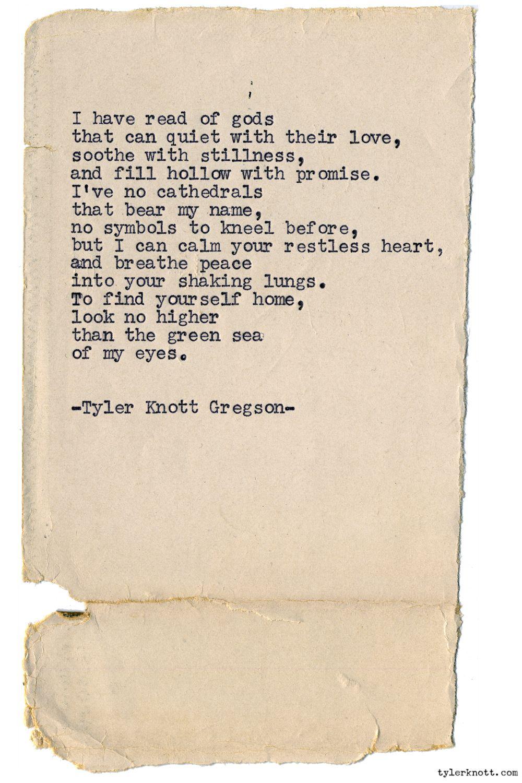 Tyler Knott Words Pretty Words Tyler Knott Gregson