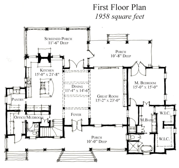 Historic Style House Plan with 5 Bed 6 Bath