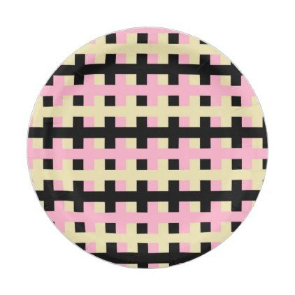 Abstract Pink Beige and Black Paper Plate - kitchen gifts diy ideas decor special unique inidual  sc 1 st  Pinterest & Abstract Pink Beige and Black Paper Plate - kitchen gifts diy ideas ...