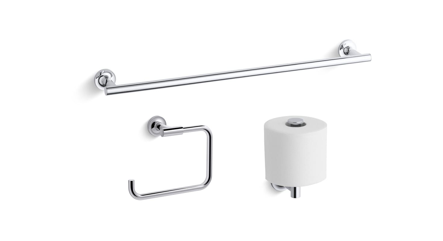 Unique Kohler Purist Double towel Bar