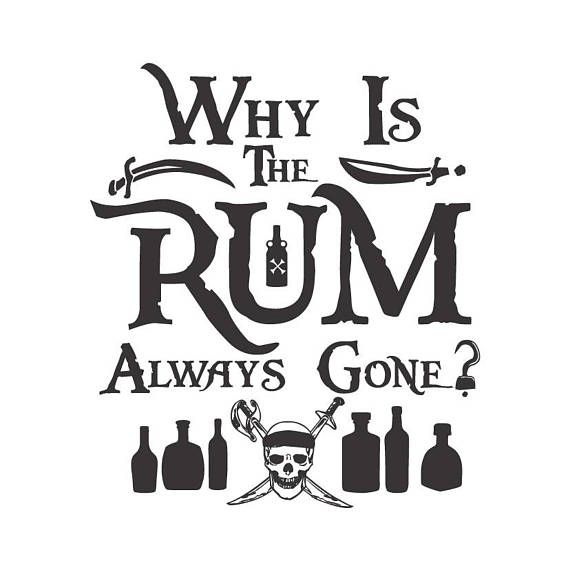 Why is the rum always gone, Disney's Pirates of the
