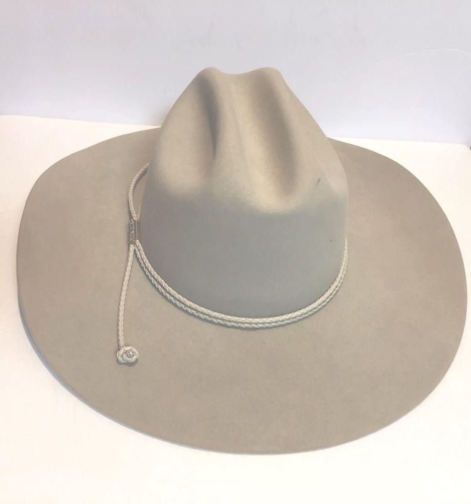 Stetson Carson Western CowBoy Hat 4x Silver Belly Beaver Fur Size 6 3 4 XXXX  4X  b974187948a6