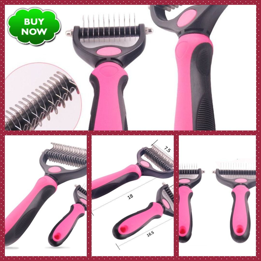 Deshedding Grooming Tool For Matted, Long, & Curly Pet Fur