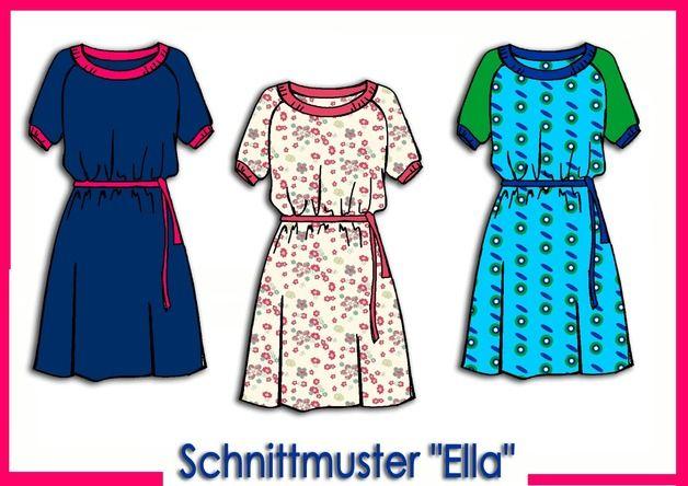 Schnittmuster ELLA | Nähen // Kleidung | Pinterest | Diy nähen ...