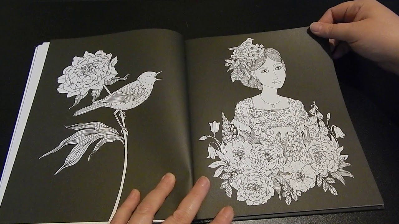 Coloring Book Flip Through Botanicum By Maria Trolle
