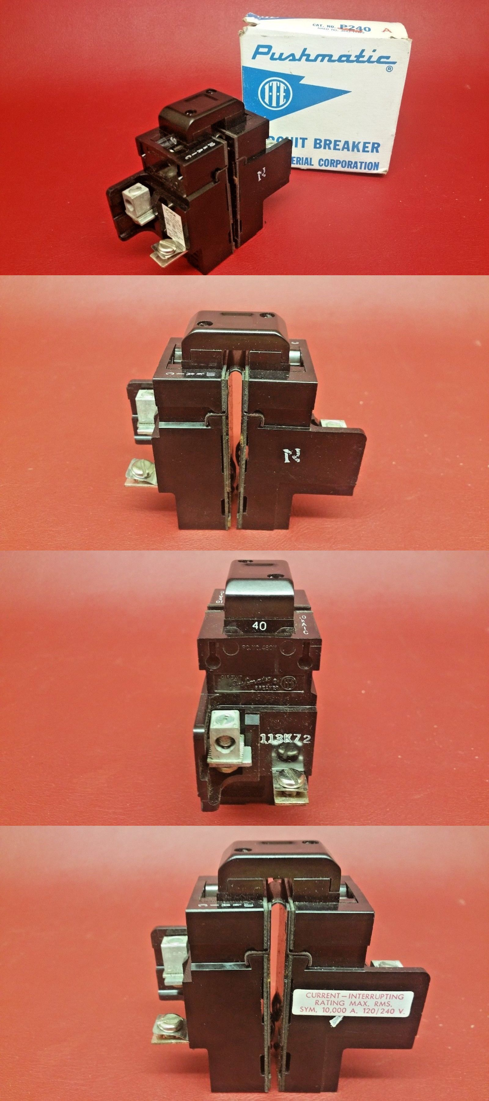 Circuit Breakers and Fuse Bo 20596: New 40 Amp Pushmatic ... on