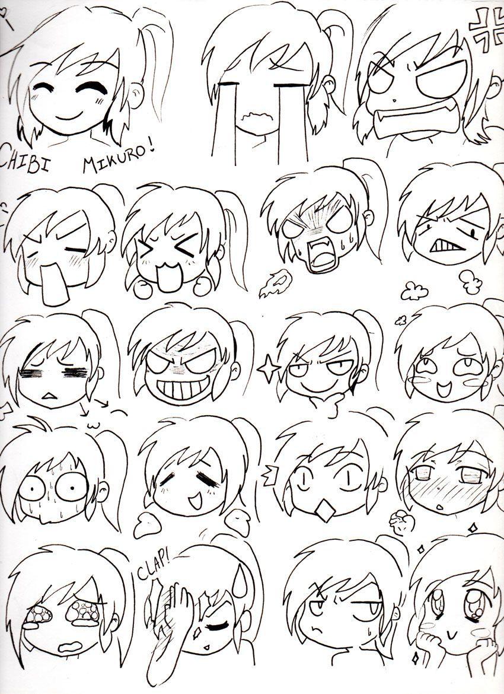 Chibi Mikuro Expressions by Mimi D … Chibi drawings