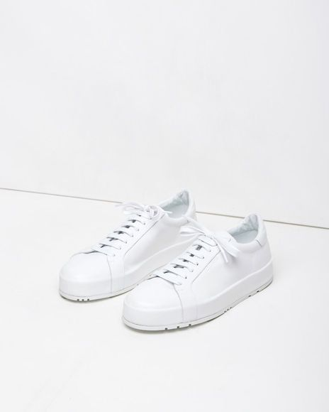 Leather Low-Top Sneakers Jil Sander 60TIf01ze
