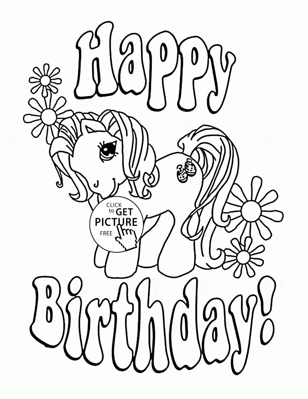 Pin on Birthday Coloring Sheets