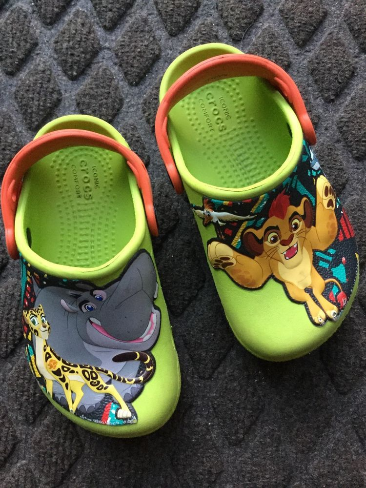 Boys Youth crocs Lion Guard size 9  fashion  clothing  shoes  accessories   babytoddlerclothing  babyshoes (ebay link) 4cd48f0a0