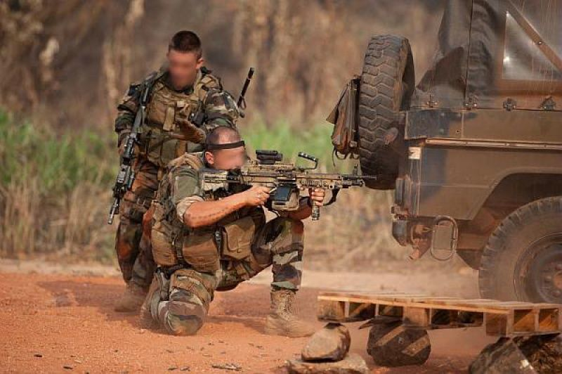 French Sof During A Clash In Central Africa Operation