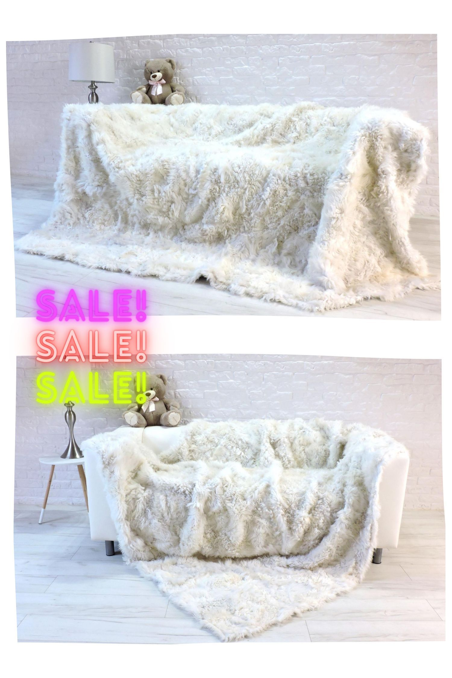 Real Toscana Fur Throw Real Fur Blanket White Fur Throw Sofa Cover Fur Rug King Size Fur Throw Lambskin Sofa Cover Sofa Throw 411 In 2020 Fur Blanket Fur Throw Lambskin Rug