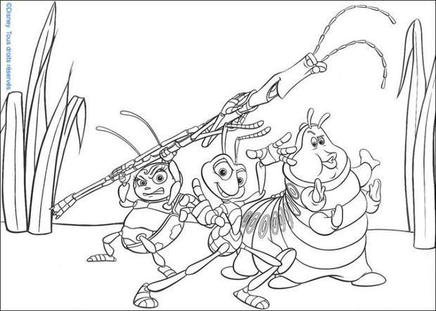 coloring bugs coloring pages with the title a bugs life coloring - Bugs Coloring Pages