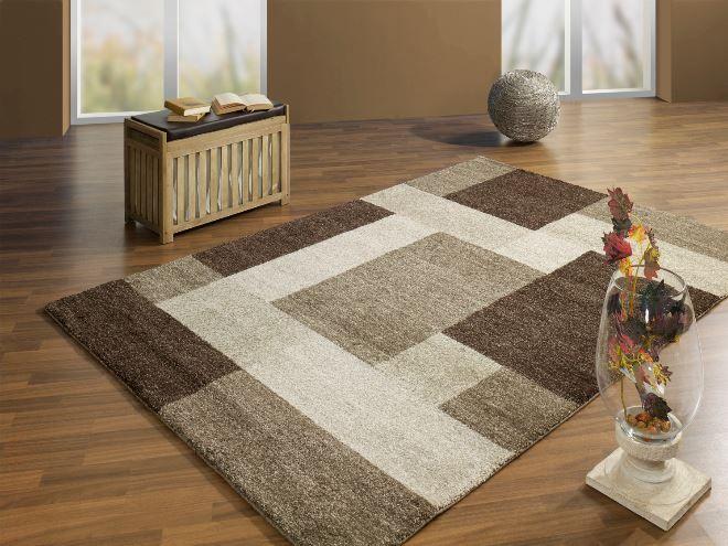 Bruin modern en zacht tapijt Dit moderne tapijt bestaat