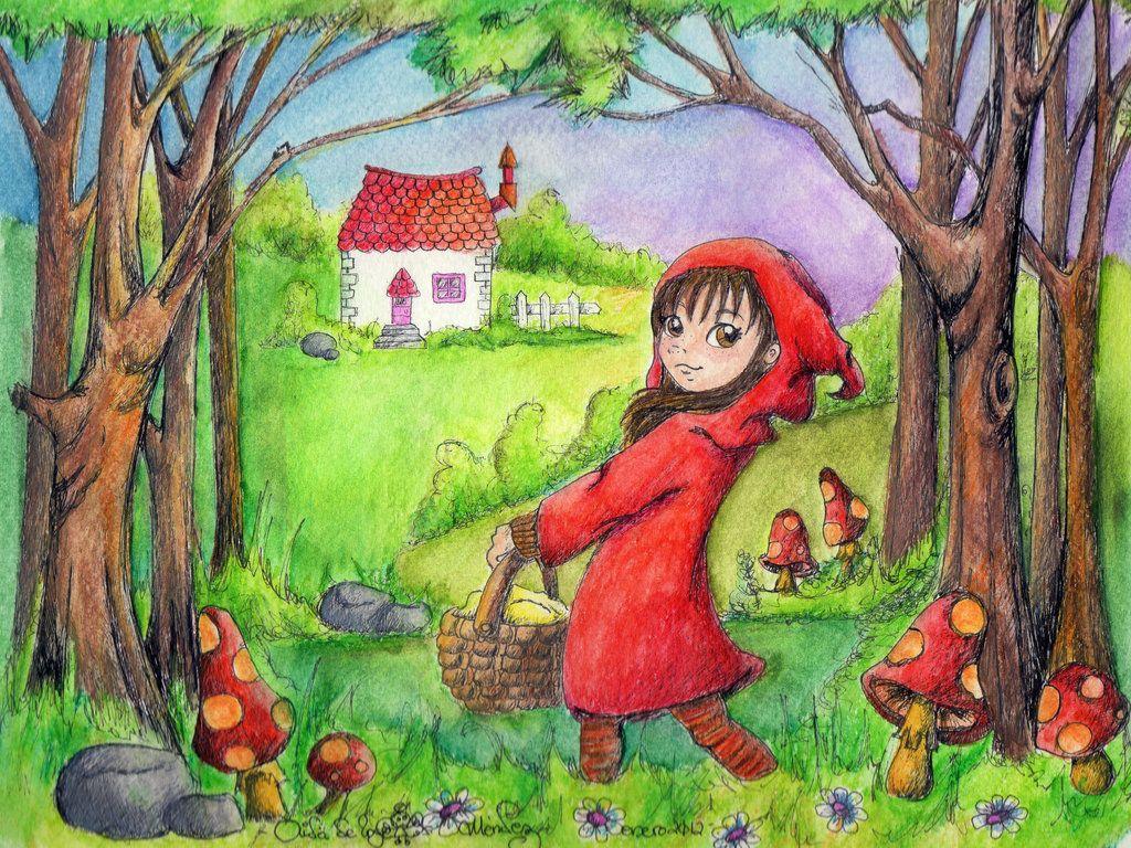 y la pobre viejita vivía sola en medio del bosque...?
