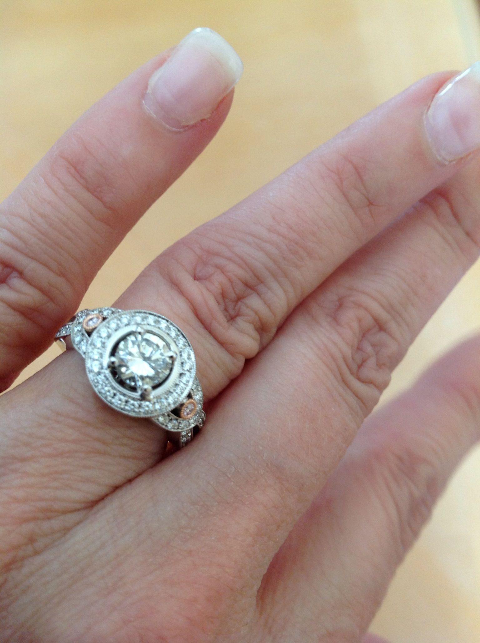My 20 Year Anniversary Ring Original Stone Reset In Simon G