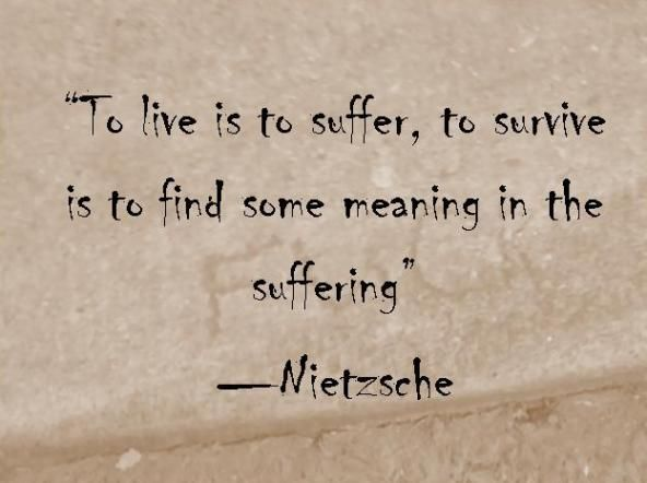 We All Suffer In The Trial Of Life But To Survive It All Shows That