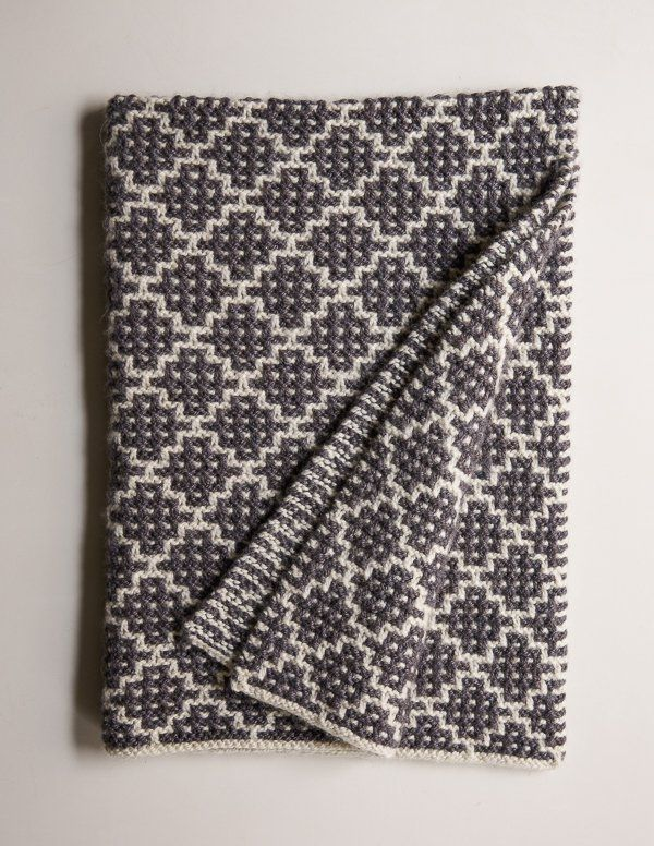 Mosaic Blanket in Trout Brown | Knitting Stuff | Pinterest | Tejer ...