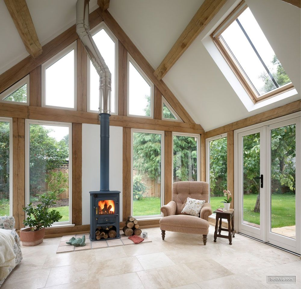 Living Room Extension Single Storey Green Oak Frame Living Room Extension Huis