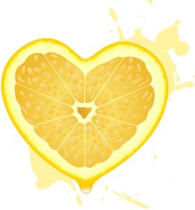 Image result for heart lemon clipart