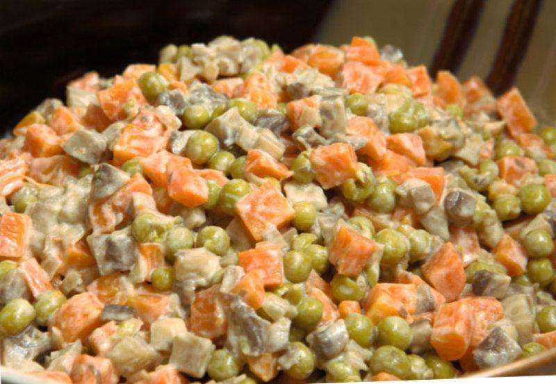 Салаты с грибами с мясом | Грибной салат, Рецепты салатов ...