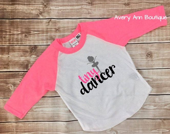 d6774020a Tiny Dancer Ballerina Shirt Ballet Dancer Kids T-Shirt Raglan Shirt ...